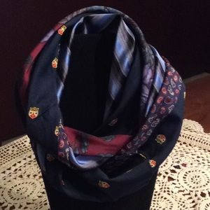 Accessories - Infinity Scarf Upcycled Silk Neckties